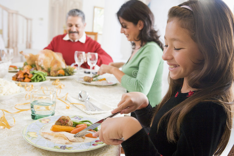 一起所有圣诞节正餐系列 免版税库存图片