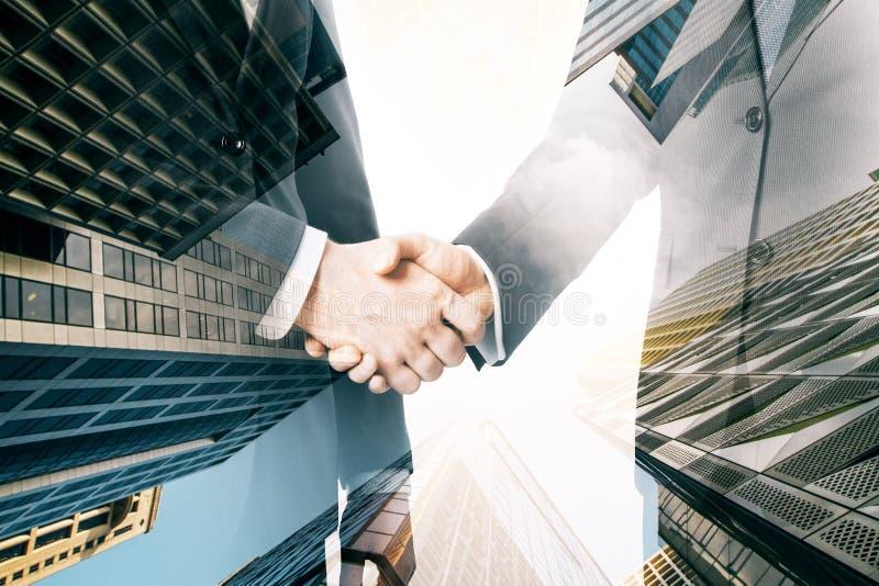 配合和成交概念 免版税库存图片