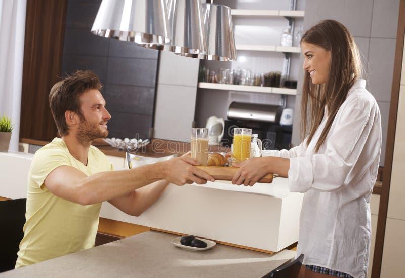一起早餐 免版税库存照片