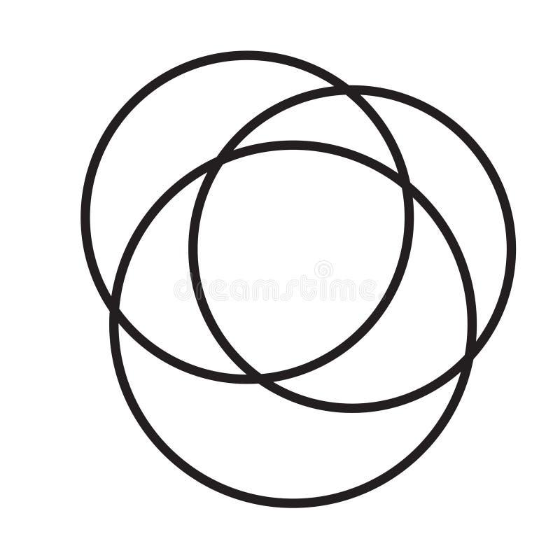一起来的形状- 111 向量例证