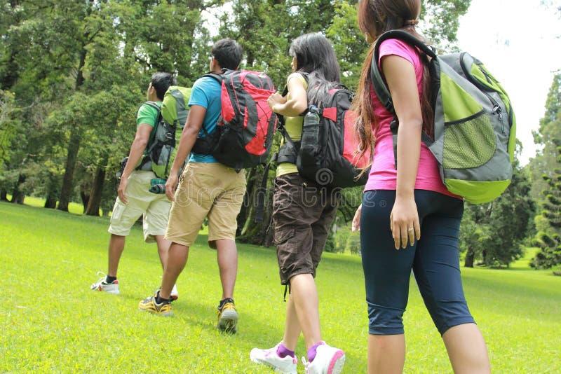 一起步行人的 图库摄影