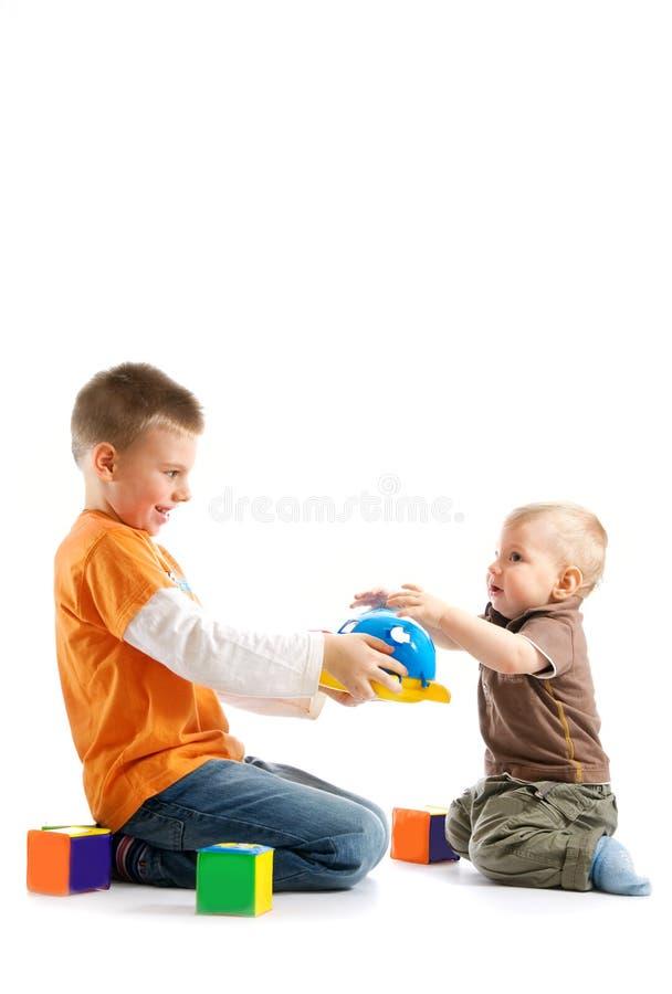 一起演奏二的孩子 库存图片