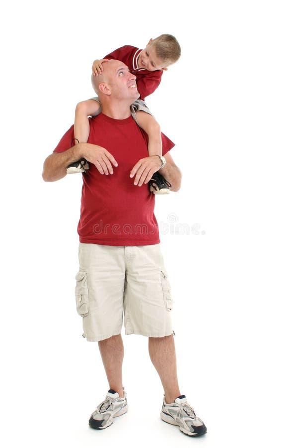 一起父亲儿子 免版税库存照片