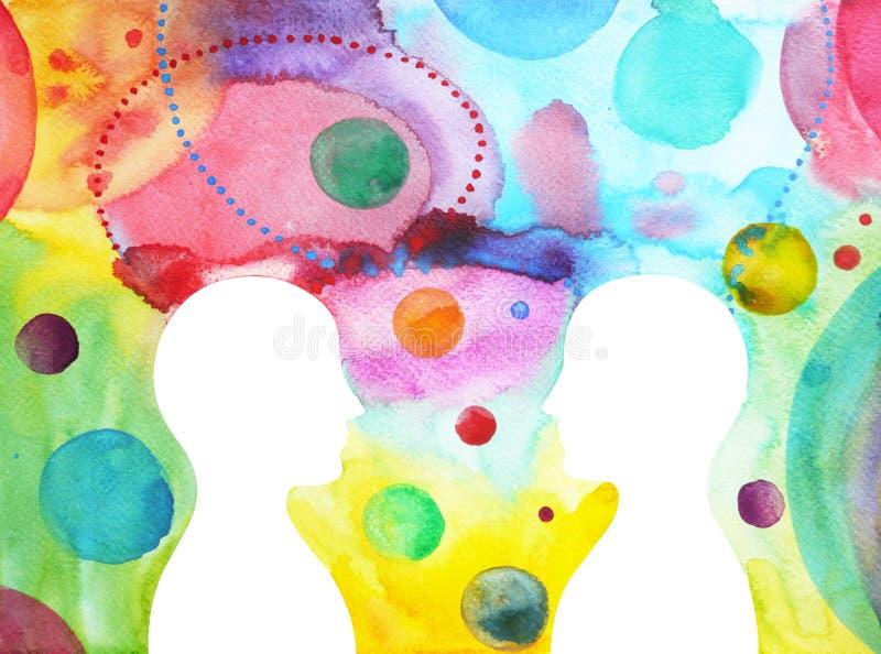 一起策划, chakra力量,启发抽象想法,在您的头脑里面的宇宙 皇族释放例证