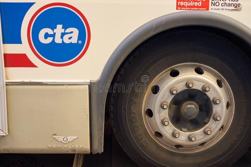 一辆公共汽车在芝加哥 图库摄影