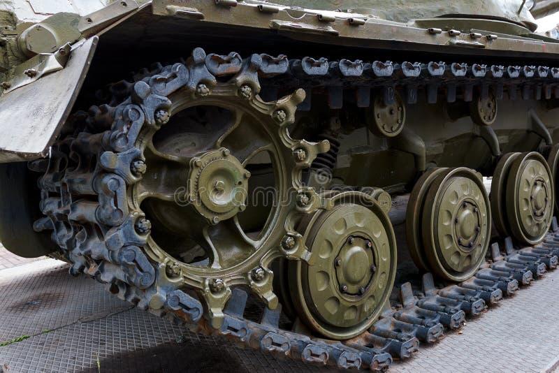 一辆军事坦克 免版税图库摄影