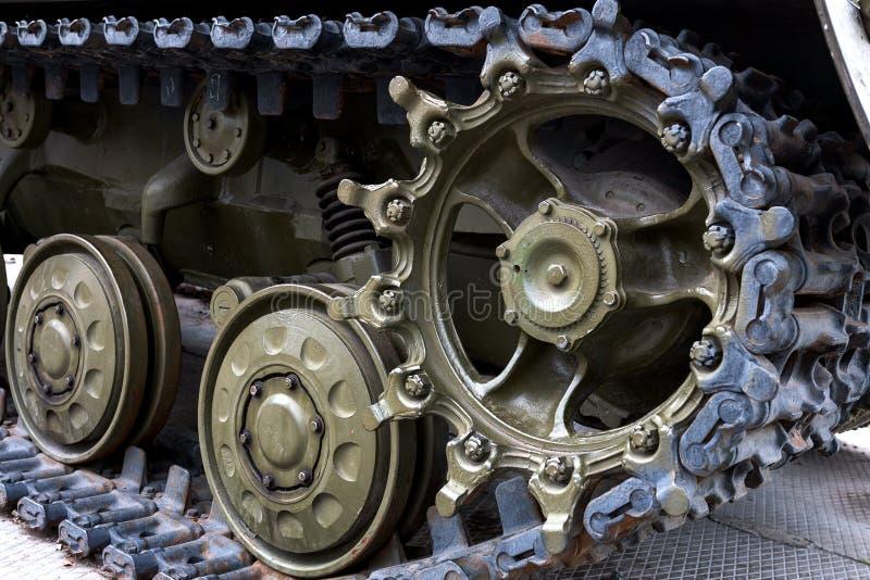 一辆军事坦克 免版税库存照片