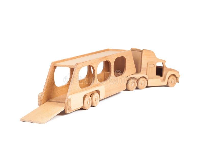 一辆木卡车的照片 免版税库存照片