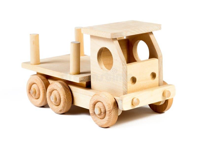 一辆木汽车卡车的照片 库存照片