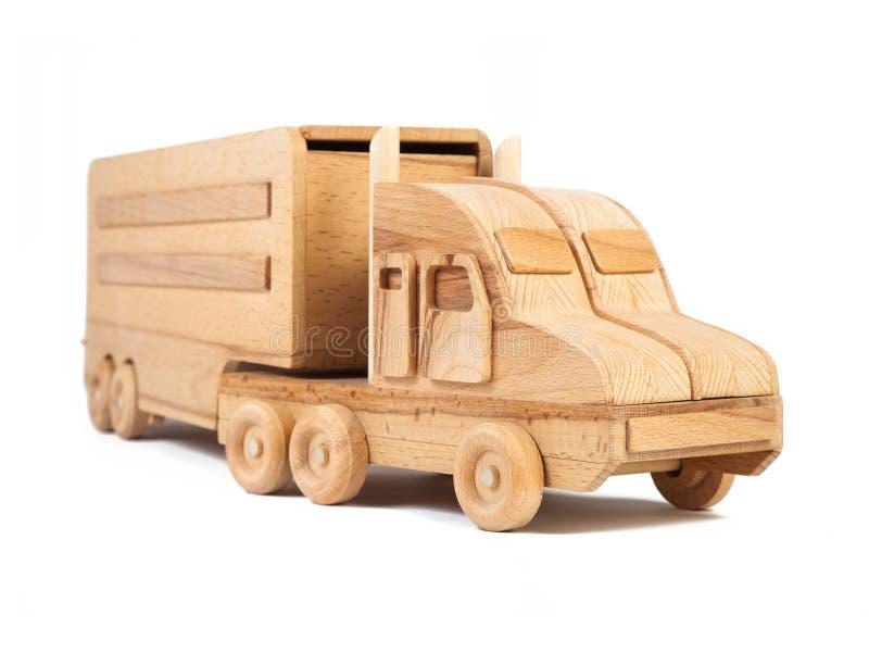 一辆木汽车卡车的照片 免版税库存照片
