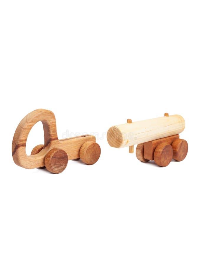 一辆木汽车的照片 免版税图库摄影