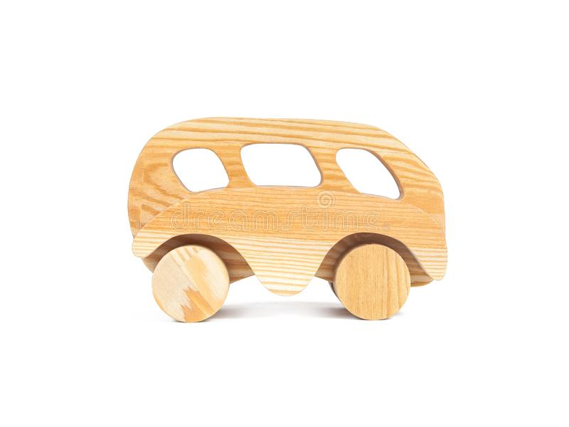 一辆木汽车的照片 库存图片