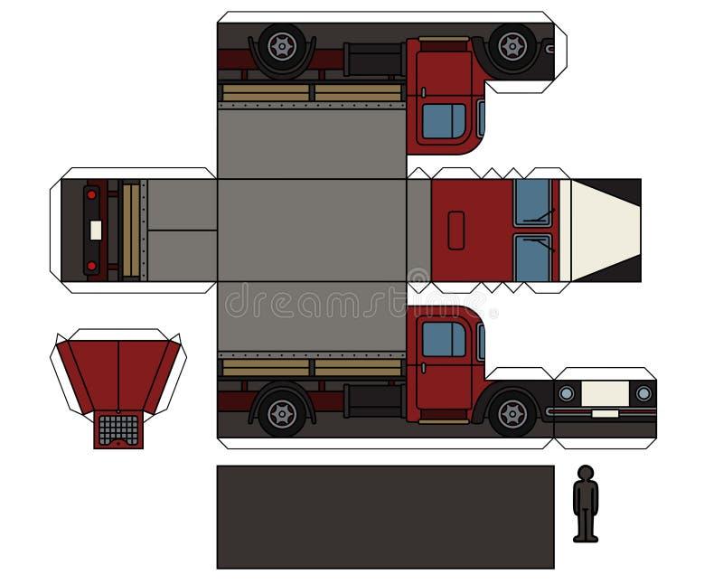 一辆老卡车的纸模型