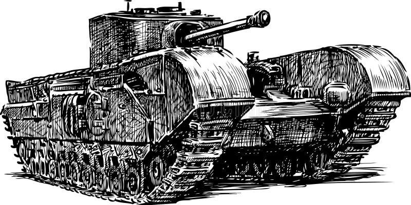 古老坦克 皇族释放例证