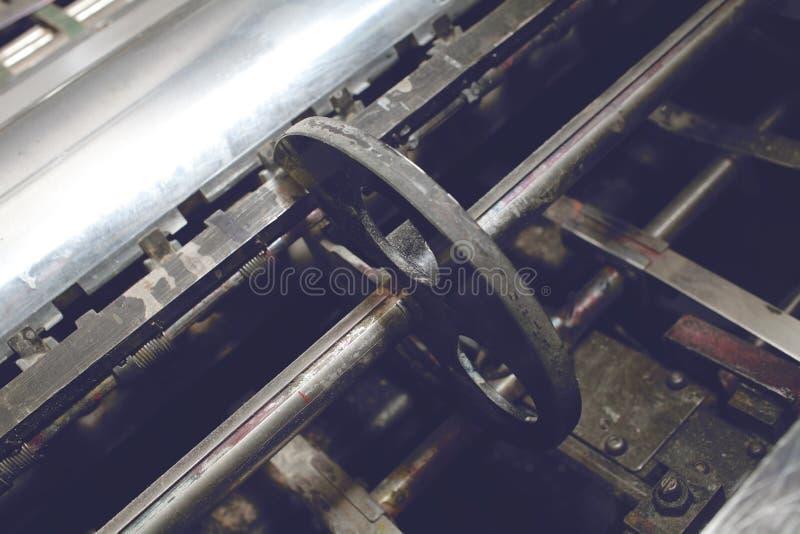 一部分的一台老打印机 库存图片