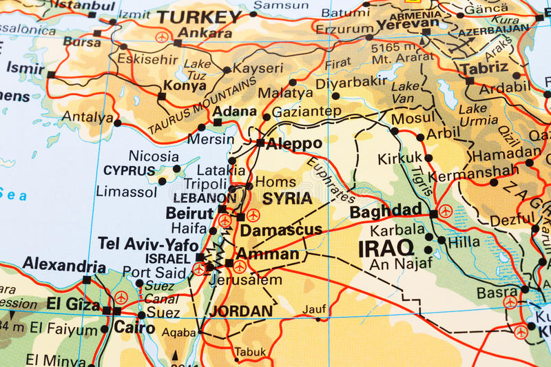 一部分的世界地图 免版税图库摄影