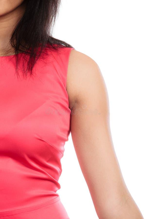一部分的人体,女性胳膊肩膀 图库摄影