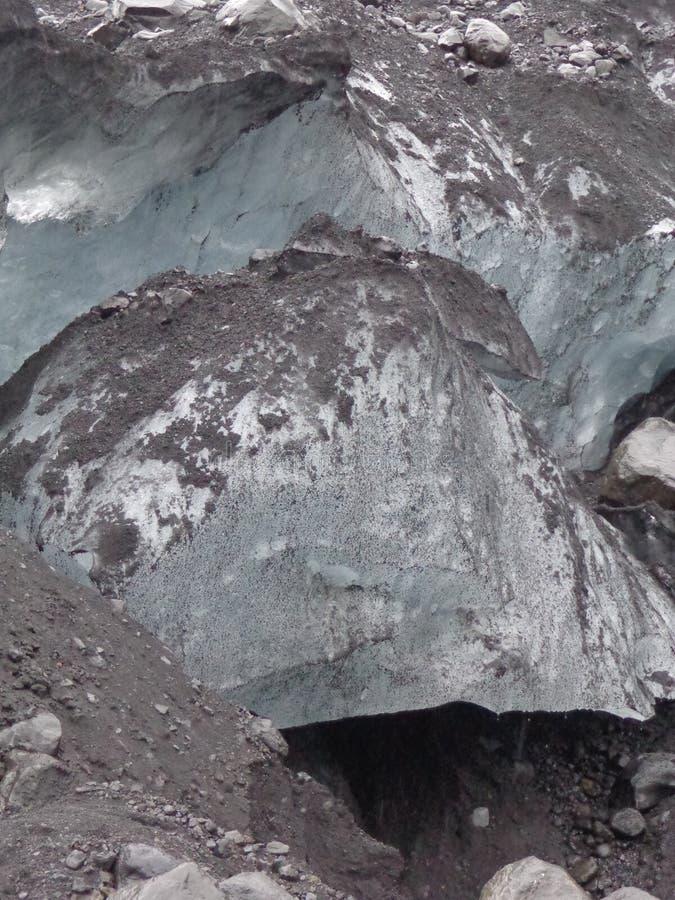 一部分的冰川 免版税库存照片