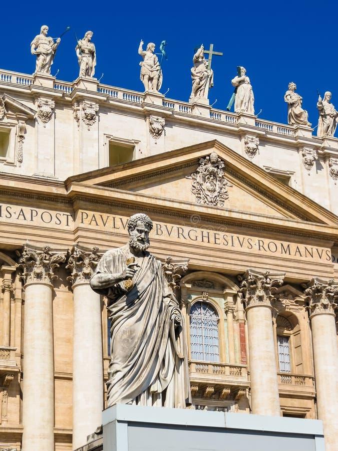 一部分的圣伯多禄大教堂,梵蒂冈 免版税图库摄影