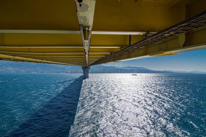 一部分的埃莱夫塞里奥斯・韦尼泽洛斯桥梁,西部希腊 免版税图库摄影