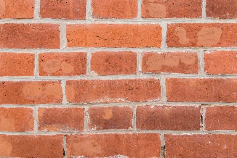 一部分的城市大厦的墙壁从红砖的 免版税库存照片
