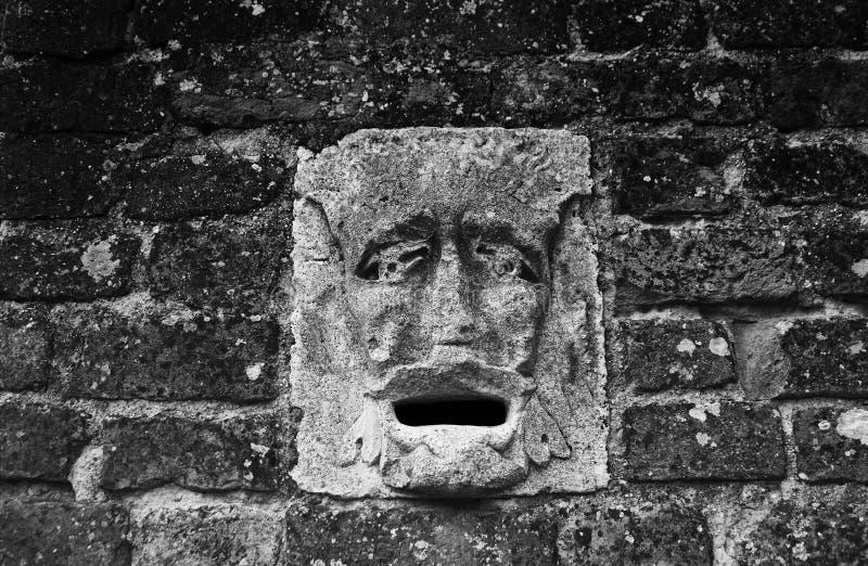 一部分的墙壁鬼魂鬼的房子 免版税库存照片
