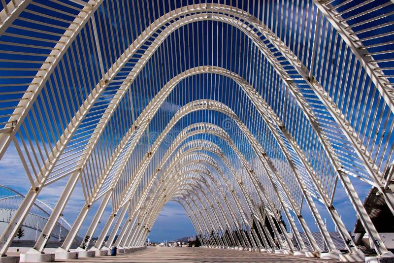 一部分的奥林匹克体育场 雅典,希腊 图库摄影