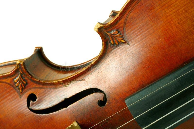一部分的小提琴 图库摄影