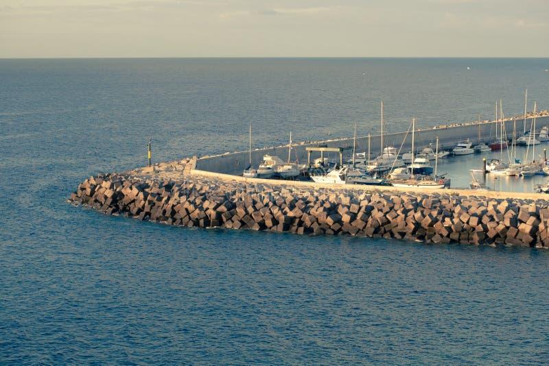 一部分的小船停泊 免版税库存图片