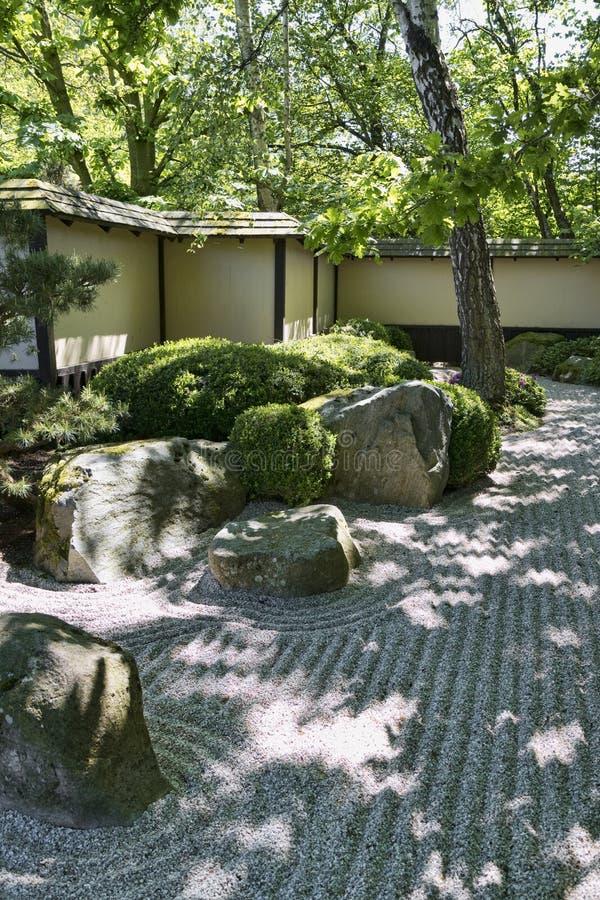 一部分的日本庭院 库存图片