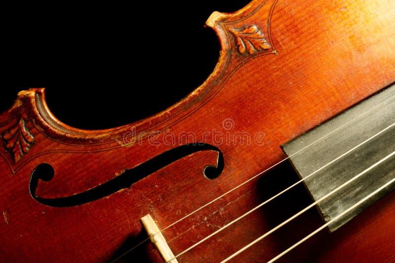 一部分的葡萄酒小提琴 库存照片