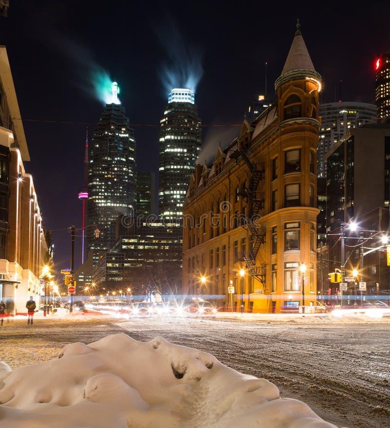 一部分的街市多伦多在冬天 图库摄影
