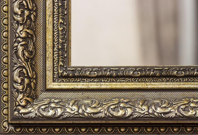一部分的镜子框架 免版税库存图片