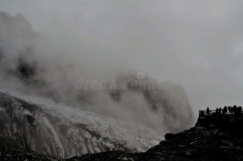 一部分的10,000年冰川 免版税库存图片