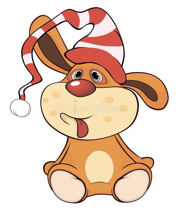 一部被充塞的玩具黄色兔子动画片 库存例证