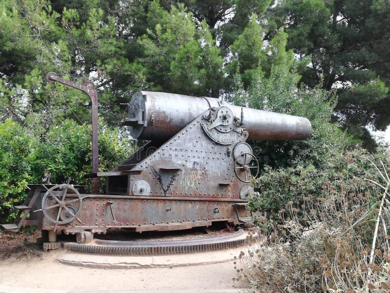 一门老战争大炮的看法 库存图片