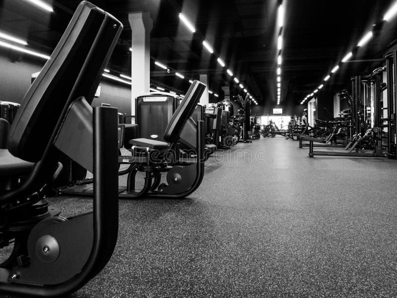 一间健身房的地板在一家新的体育俱乐部的 库存照片