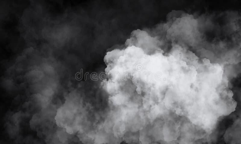 一间空的黑暗黑屋子的背景 空的砖墙,光,烟,焕发,光芒 皇族释放例证