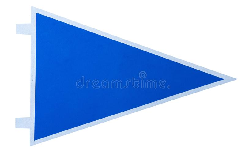一面空白的蓝色信号旗 免版税库存图片