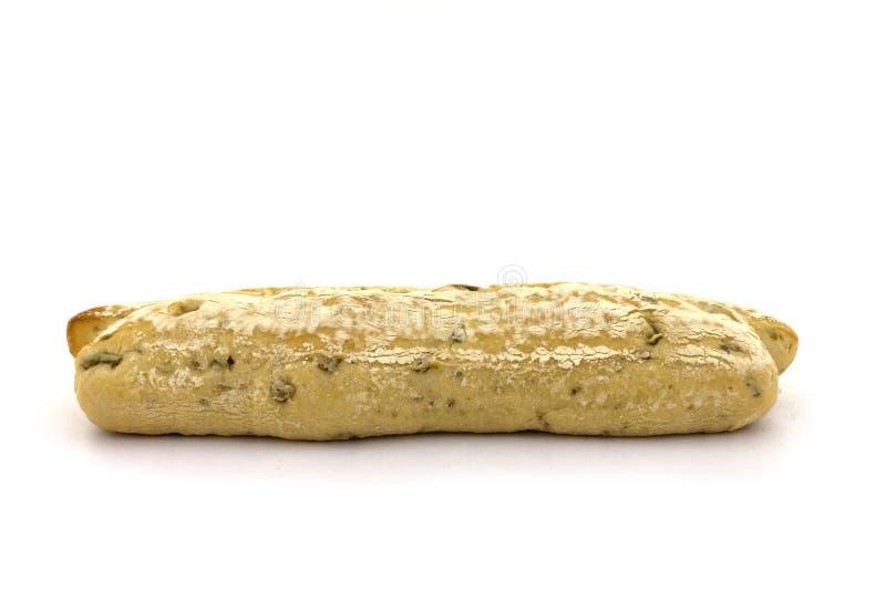 一颗橄榄色的长方形宝石 免版税库存图片