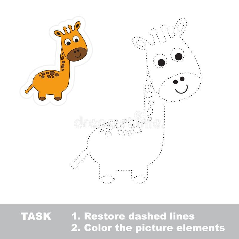 一头动画片滑稽的长颈鹿 库存例证