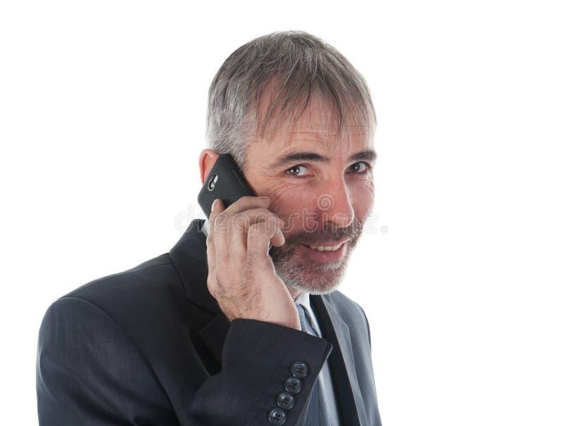 有电话的人 库存照片