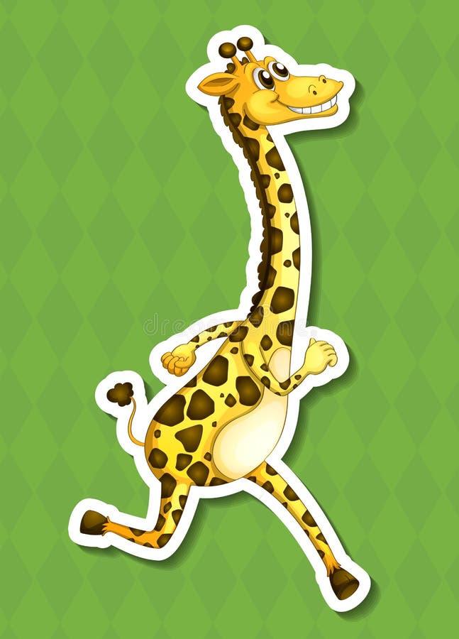 一头愉快的长颈鹿 库存例证