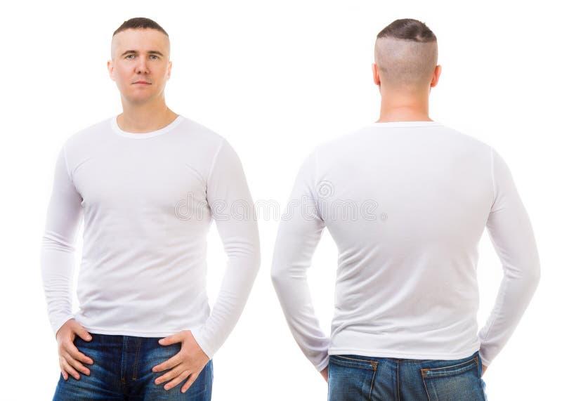 一件白色T恤杉的男孩 库存图片