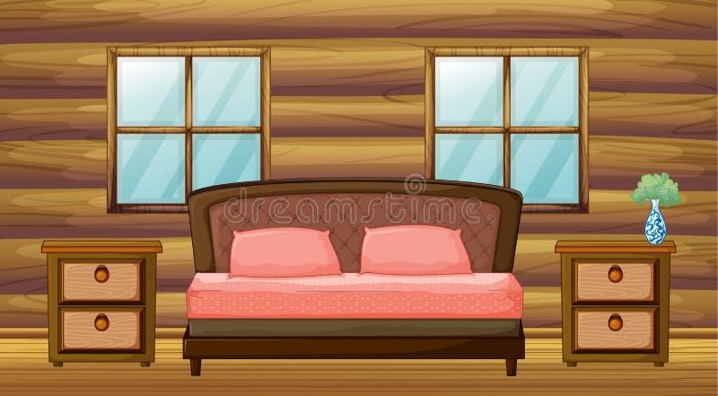 一间组织的卧室 向量例证