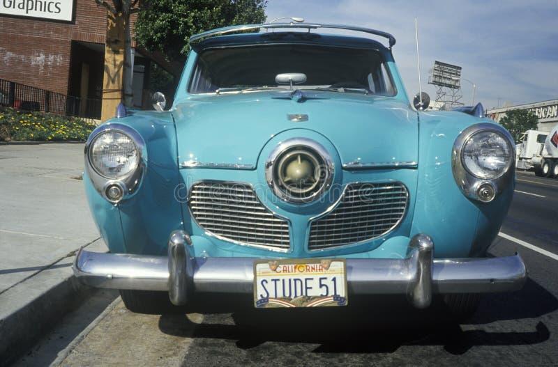 一件老古董1951年Studebaker在洛杉矶,加州 图库摄影