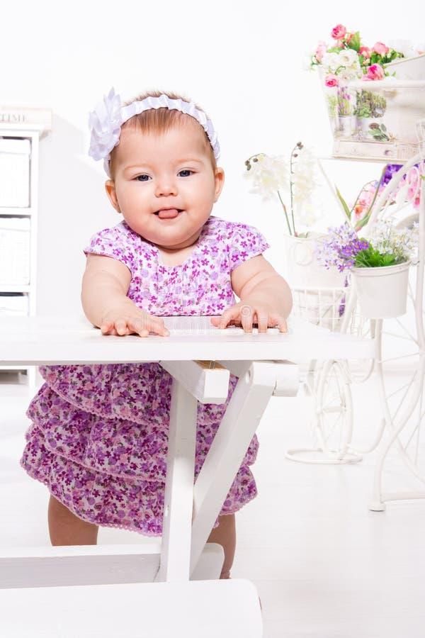 可爱的女婴 库存图片