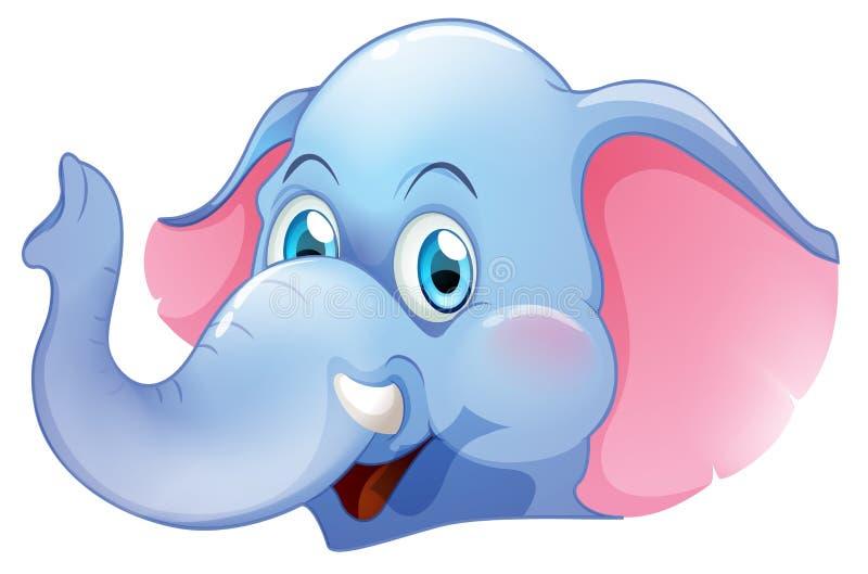 一头蓝色大象 库存例证