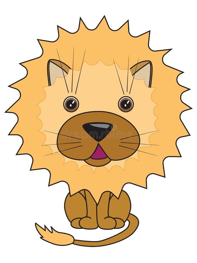一头逗人喜爱的狮子的向量例证 皇族释放例证