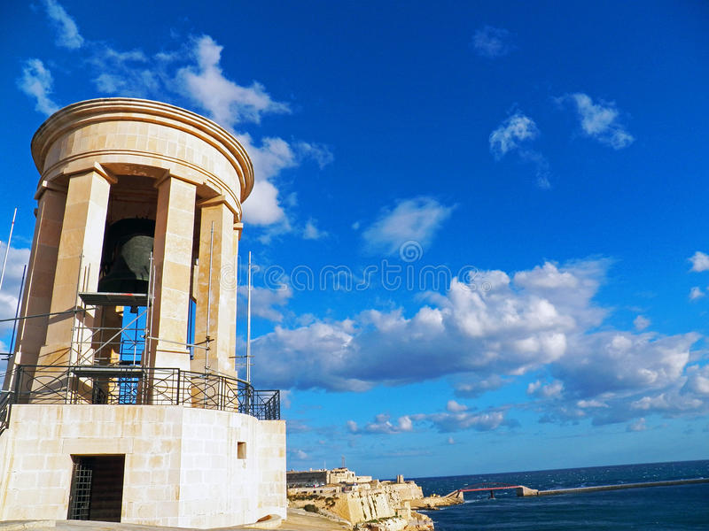 一份钟楼纪念品在瓦莱塔,马耳他 库存图片